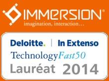 La société Immersion au palmares Deloitte FAST 50 Sud-Ouest