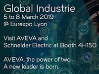 Aveva et Schneider Electric participeront au salon Global Industrie de mars 2019
