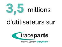 TraceParts atteint les 3.5 millions d'utilisateurs inscrits