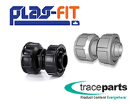 Plas-Fit publie son catalogue de raccords de tuyauterie en 3D sur TraceParts