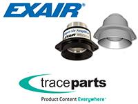 Le catalogue de produits EXAIR est disponible sur TraceParts