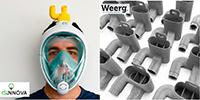 WEERG IMPRIME ÉGALEMENT EN 3D LES VALVES DES MASQUES RESPIRATOIRES D'URGENCE CONÇUS PAR ISINNOVA  ET FABLAB BRESCIA