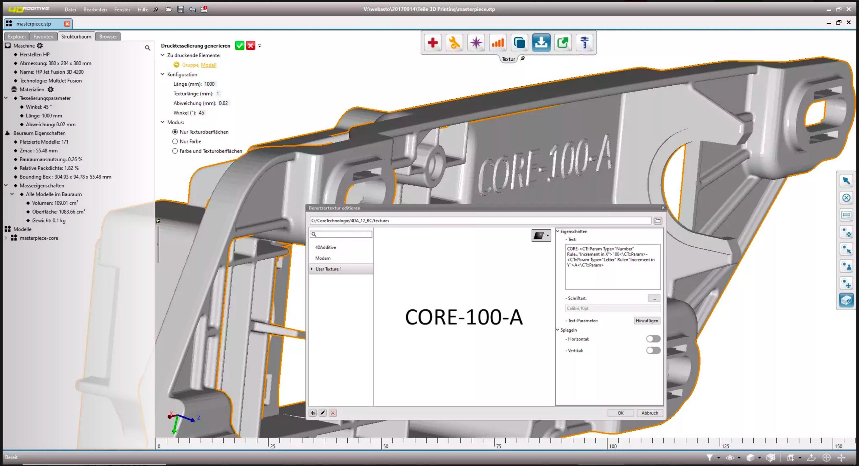 La version 1.2 de 4D_Additive propose une nouvelle fonction d'étiquetage automatique des pièces imprimées.