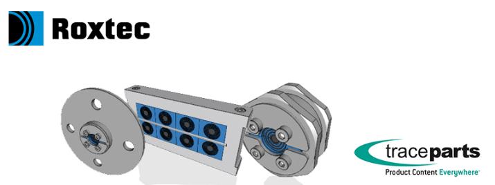 Les modèles CAO des composants Roxtec pour l'étanchéité des câbles et tuyaux sont en ligne sur la plateforme TraceParts