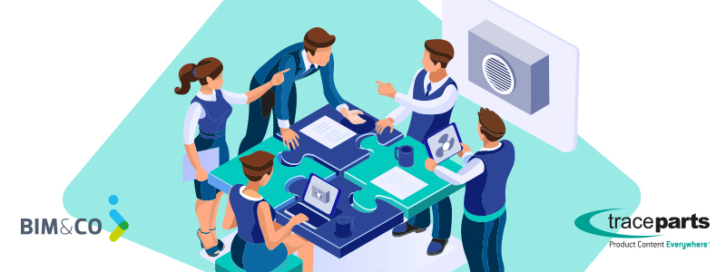 TraceParts & BIM&CO proposent aux fabricants la création et la publication unifiées des données CAO & BIM