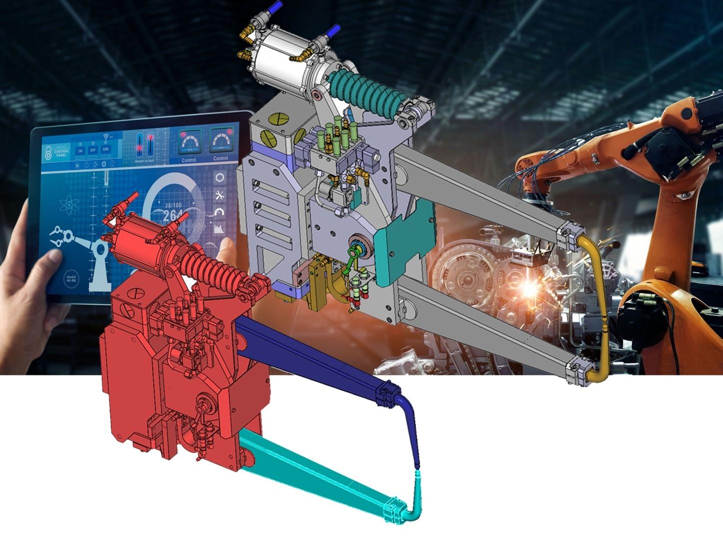 3D_Evolution Simplifier permet une simplification extrême des modèles et des grands assemblages jusqu'à 97% pour la réalité virtuelle, la réalité augmentée et l'usine numérique