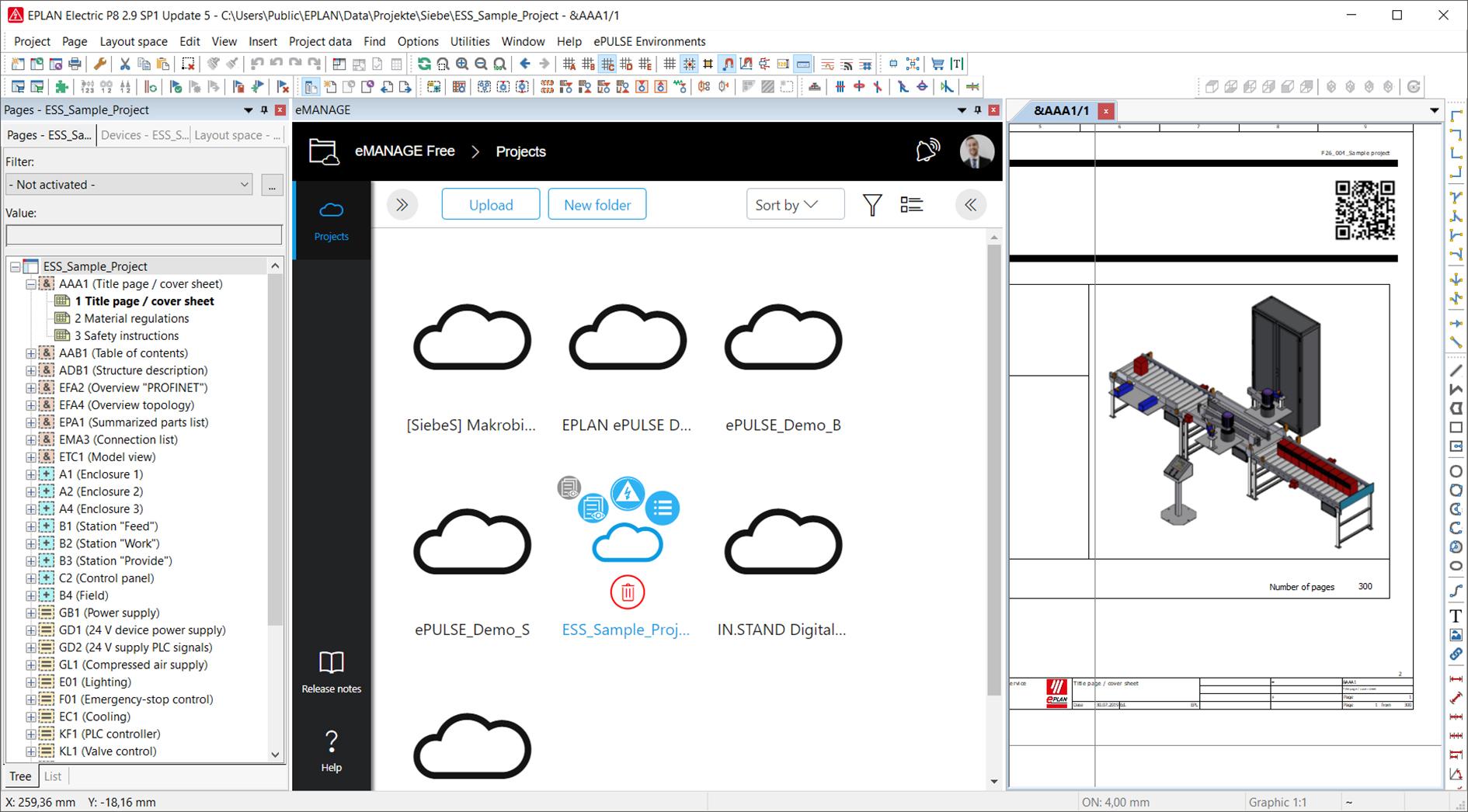 EPLAN eManage : transfert, partage et gestion simples des projets dans le cloud
