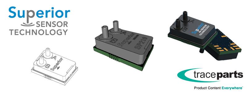 Le catalogue de produits de Superior Sensor Technology désormais disponible sur la plate-forme de contenu CAO de TraceParts