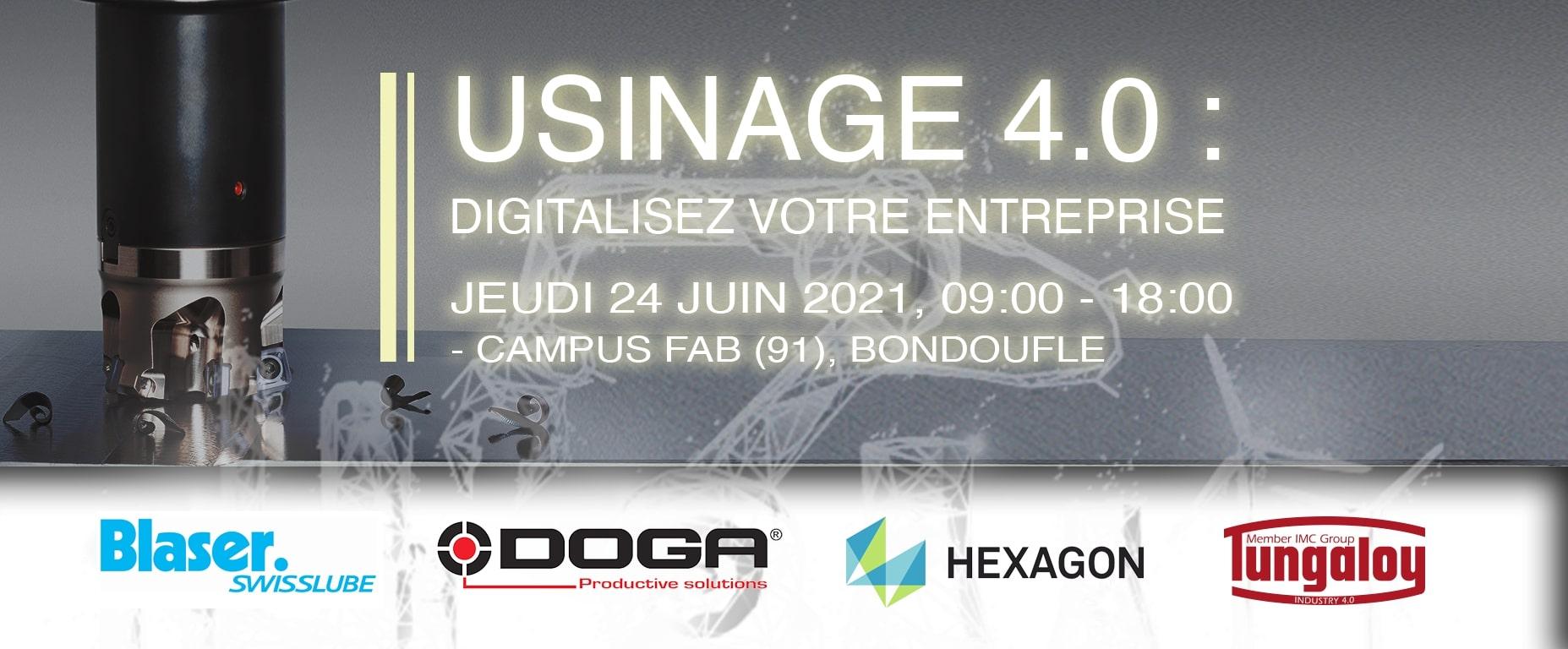Usinage 4.0, Digitalisez Votre Entreprise Le 24 Juin 2021 à Campus Fab (91)