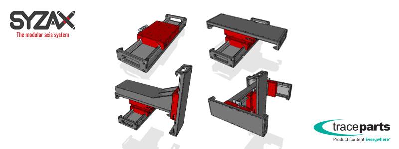 Les modules Syzax permettent aux ingénieurs de configurer leurs solutions d'automatisation directement depuis TraceParts.com