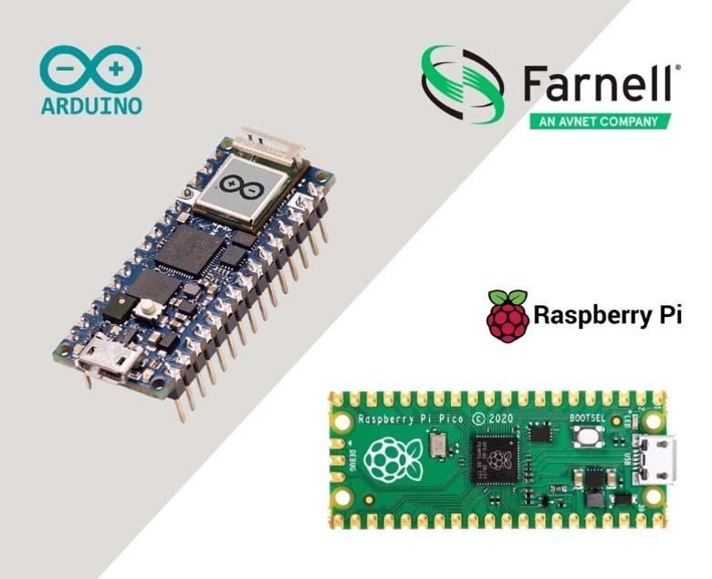 Farnell livre désormais Arduino Nano RP2040 Connect et Raspberry Pi Pico sur stock